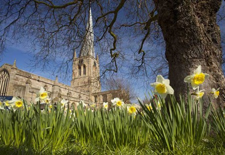 Crooked Spire in Spring - Visit Chesterfield