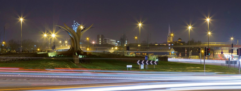 Growth Sculpture Horns Bridge Roundabout Chesterfield
