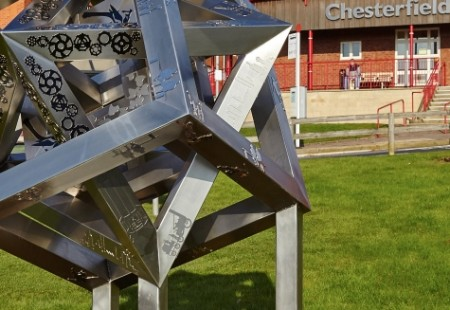 Franke Sissons Made in Chesterfield Sculpture Unveiling Chesterfield Champions