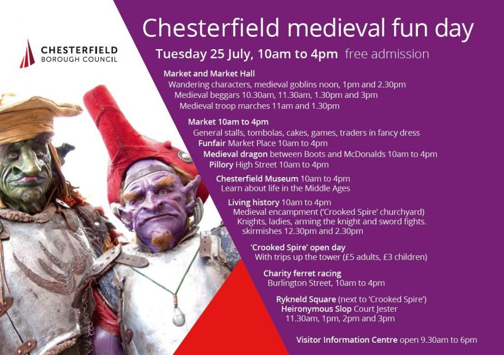 Chesterfield Medieval Fun Day Times 2017