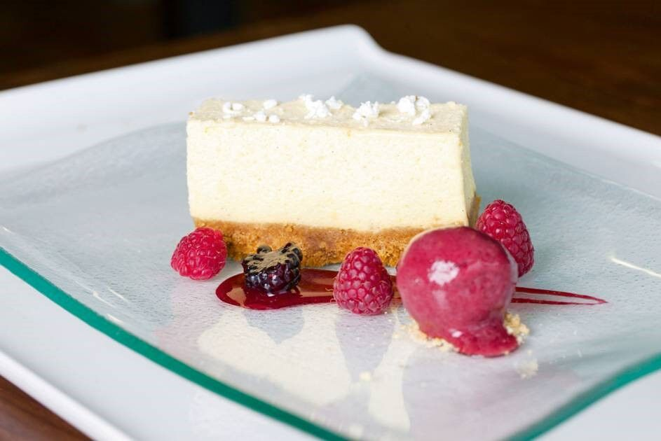Lemon and Ginger Cheesecake with Raspberry Sorbet ...
