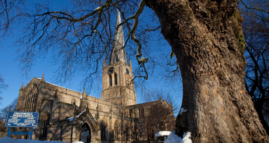Crooked Spire in the Snow
