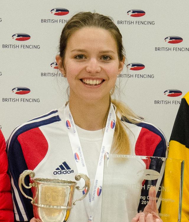 Hannah Lawrence British Women's Epee Championship 2016