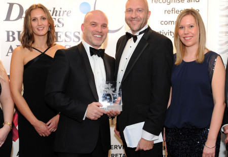 Derbyshire Times Business Awards. Team of the Year award went to Banner Jones.